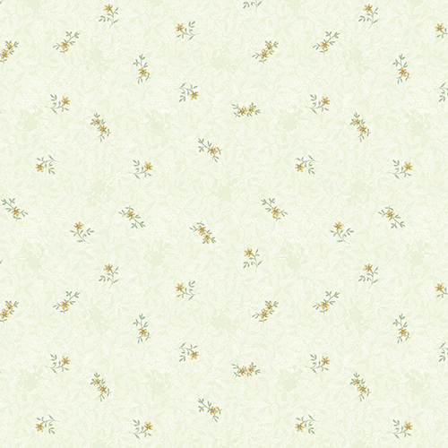Isabella Green and Yellow Floral Wallpaper - SAMPLE SWATCH ONLY
