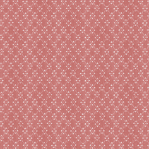 Red Paisley Print Wallpaper
