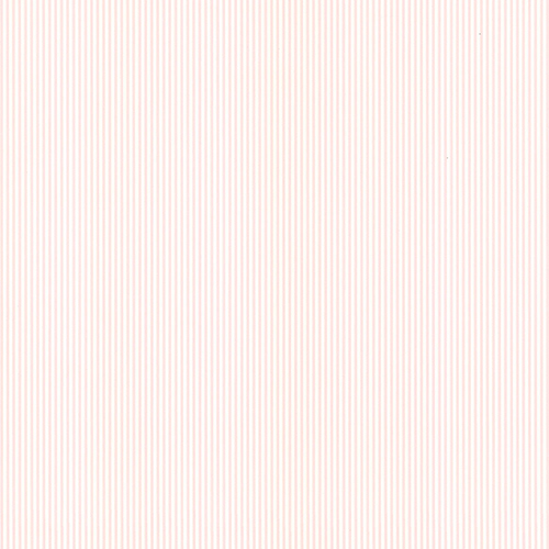 Norwall Wallcoverings Ticking Stripe Cream and Pink Wallpaper - SAMPLE SWATCH ONLY