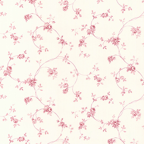 Delft Rose Pink and Cream Wallpaper