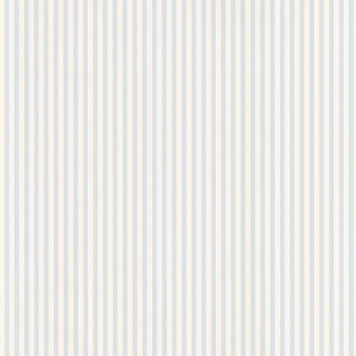 Norwall Wallcoverings Blue and Cream 6mm Stripe Wallpaper - SAMPLE SWATCH ONLY