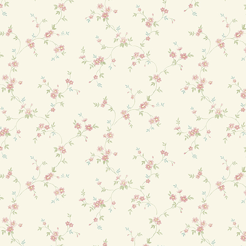 Como Trail Light Yellow Turquoise And Pink Floral Wallpaper