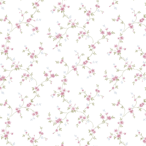 Como Trail Pink Floral Wallpaper