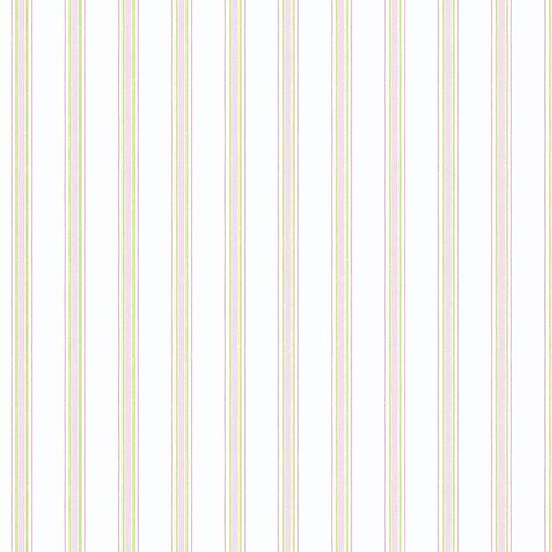 Dawn Stripe Pink and Green Wallpaper
