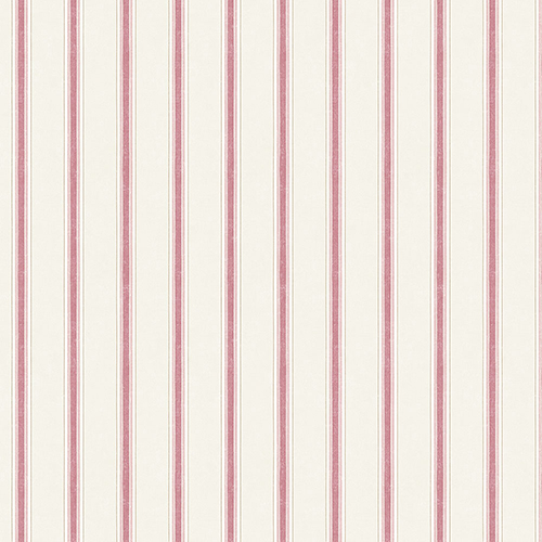 Dawn Stripe Red and Brown Wallpaper