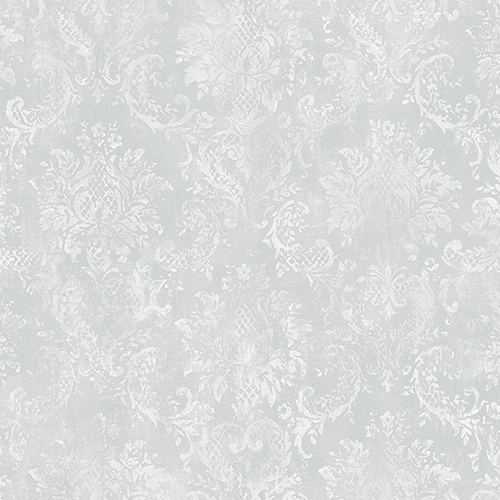 Norwall Wallcoverings Canvas Damask Grey Wallpaper - SAMPLE SWATCH ONLY