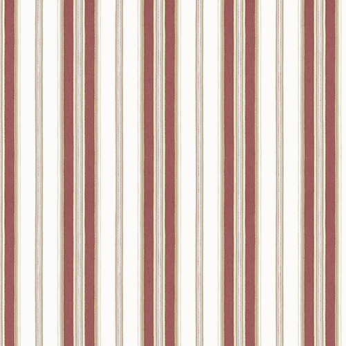 Heritage Stripe Red and Metallic Gold Wallpaper - SAMPLE SWATCH ONLY
