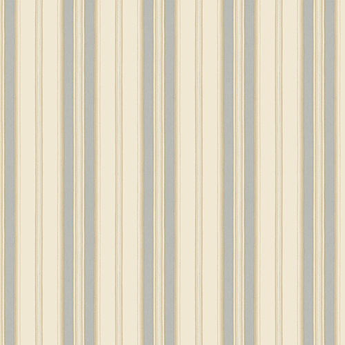 Norwall Wallcoverings Heritage Stripe Beige and Blue Wallpaper - SAMPLE SWATCH ONLY
