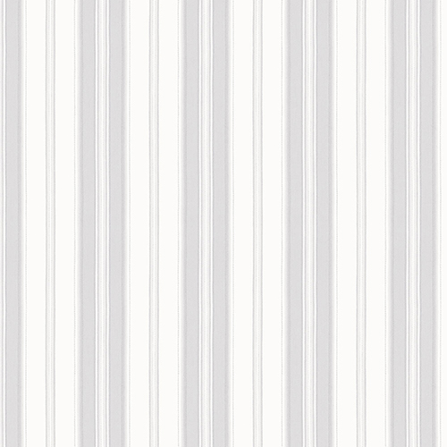 Norwall Wallcoverings Heritage Stripe Grey and Metallic Silver Wallpaper - SAMPLE SWATCH ONLY