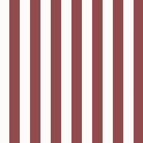 Regency Stripe Red and White Wallpaper