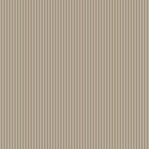 Brown and Metallic Gold 3mm Stripe Wallpaper