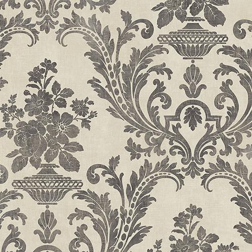 Sari Beige and Black Texture Wallpaper