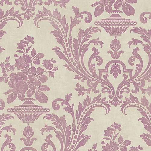 Norwall Wallcoverings Sari Taupe and Pink Texture Wallpaper - SAMPLE SWATCH ONLY