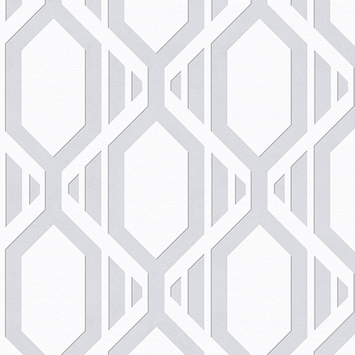 Gatsby Grey and Silver Wallpaper - SAMPLE SWATCH ONLY