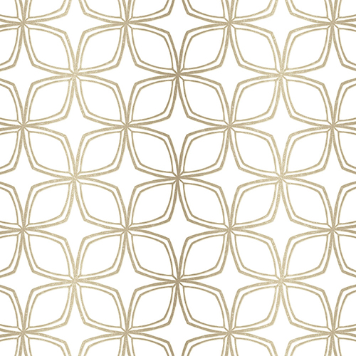 Geo Taupe and Gold Wallpaper