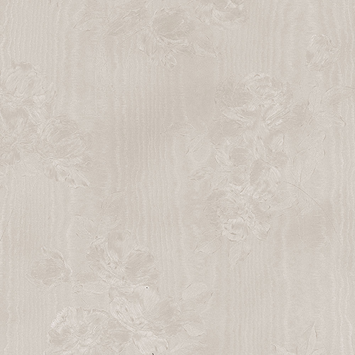 In Register Floral Moiré Taupe Wallpaper - SAMPLE SWATCH ONLY