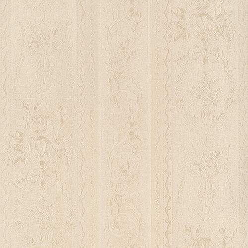 In Register Stripe Cream Wallpaper - SAMPLE SWATCH ONLY