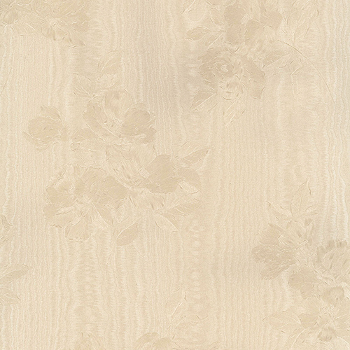 Norwall Wallcoverings In Register Floral Moiré Cream Wallpaper - SAMPLE SWATCH ONLY