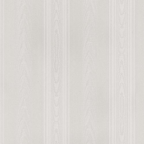 Norwall Wallcoverings Medium Moiré Stripe Light Grey Wallpaper - SAMPLE SWATCH ONLY