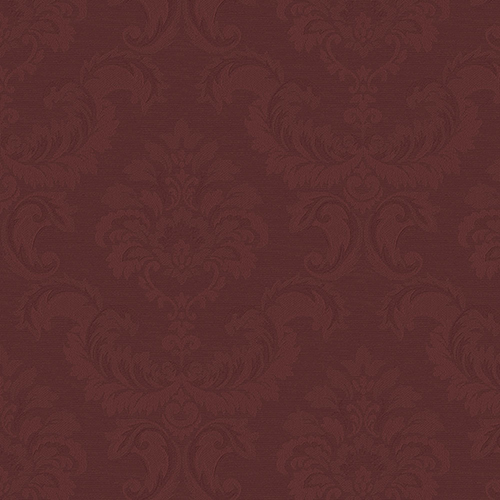 Norwall Wallcoverings Damask Emboss Red Wallpaper