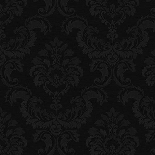 Damask Emboss Black Wallpaper