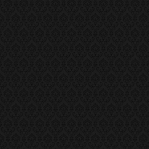 Black Small Damask Wallpaper