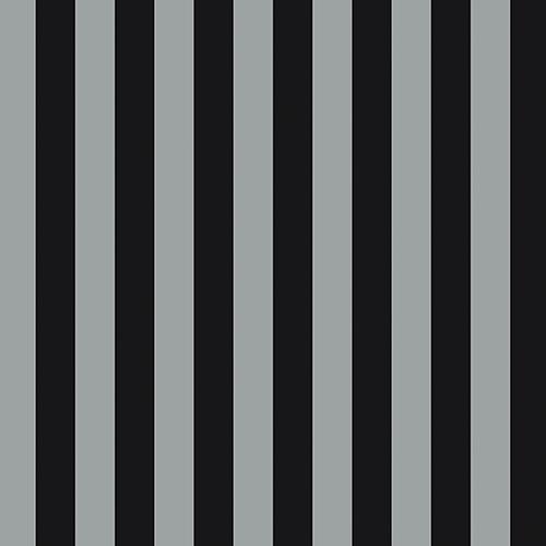 Norwall Wallcoverings Regency Stripe Metallic Silver and Black Wallpaper - SAMPLE SWATCH ONLY