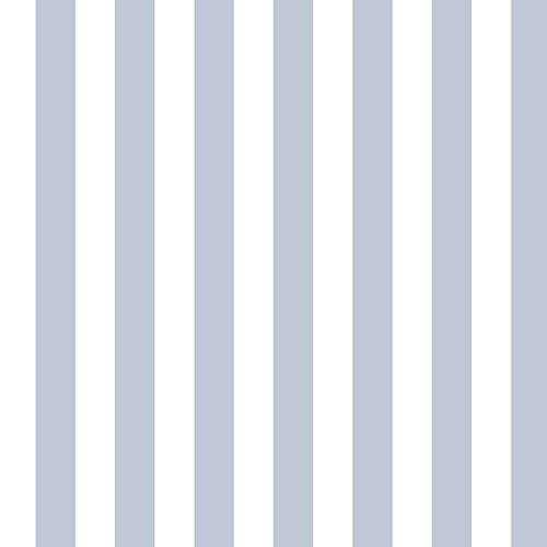 Norwall Wallcoverings Regency Stripe Light Blue And White