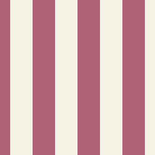 Tent Stripe Beige and Red Wallpaper - SAMPLE SWATCH ONLY