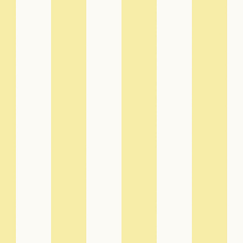 Tent Stripe Yellow and White Wallpaper