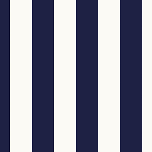 Norwall Wallcoverings Tent Stripe Navy and White Wallpaper - SAMPLE SWATCH ONLY