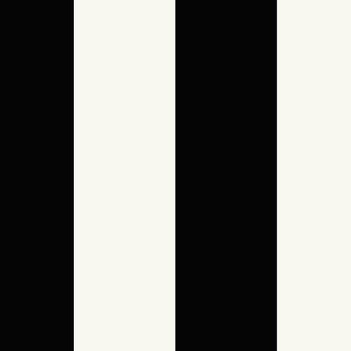Pearl and Black 5.25 In. Stripe Wallpaper