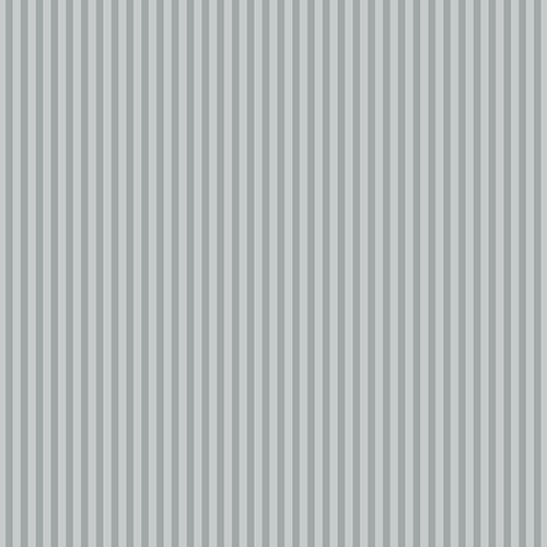 Grey and Metallic Silver 6mm Stripe Wallpaper