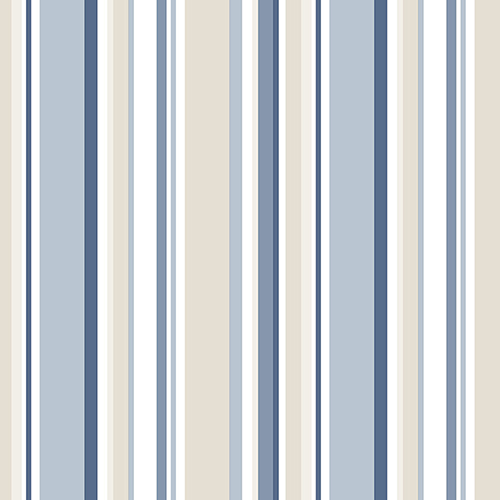 Norwall Wallcoverings Step Stripe Blue and Beige Wallpaper - SAMPLE SWATCH ONLY