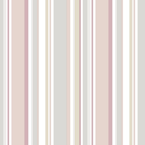 Norwall Wallcoverings Step Stripe Pink and Grey Wallpaper - SAMPLE SWATCH ONLY