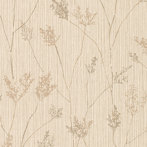 Cow Parsley Beige and Grey Wallpaper - SAMPLE SWATCH ONLY