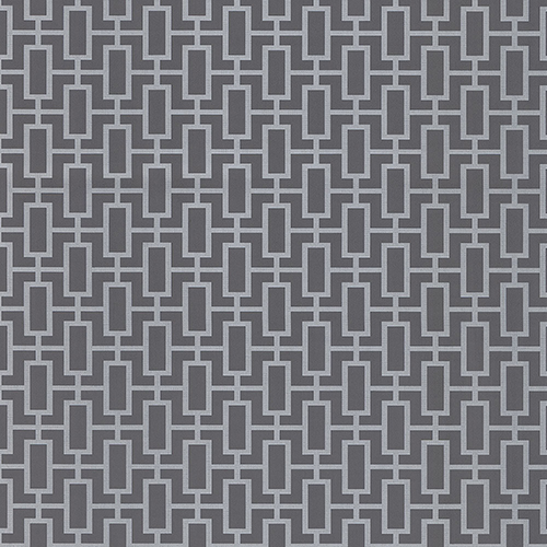 Luxor Print Metallic Silver and Grey Wallpaper - SAMPLE SWATCH ONLY