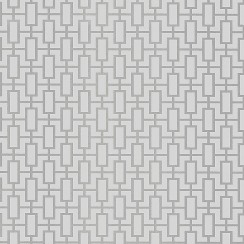 Luxor Print Metallic Silver and Grey Wallpaper