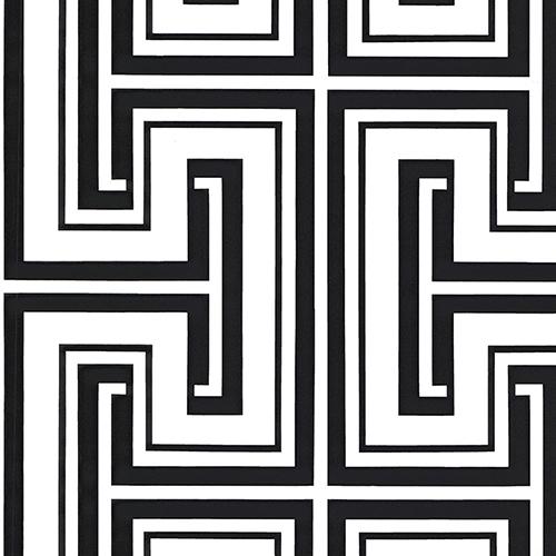 Tease Black and White Wallpaper