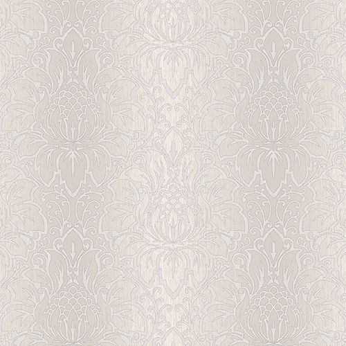 Venetian Damask Taupe and Beige Wallpaper