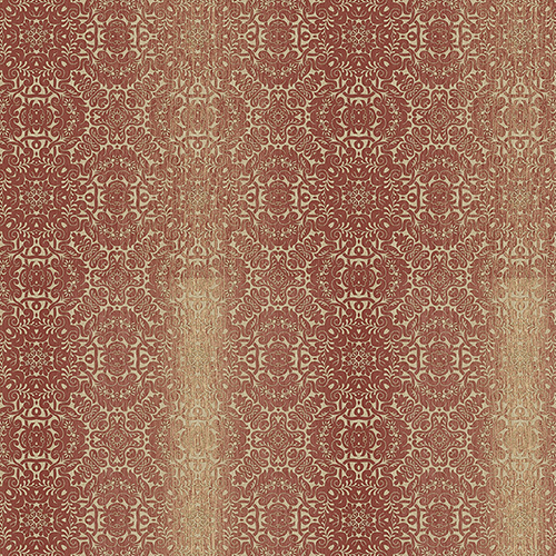 Norwall Wallcoverings Tribal Red, Ochre and Metallic Gold Texture Wallpaper