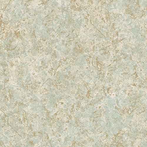 Kashmire Texture Turquoise, Cream and Metallic Gold Wallpaper