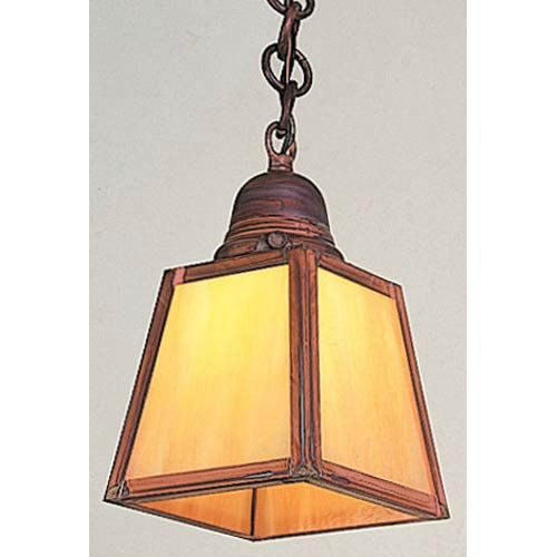 Arroyo Craftsman A-Line Gold White Iridescent Outdoor Pendant