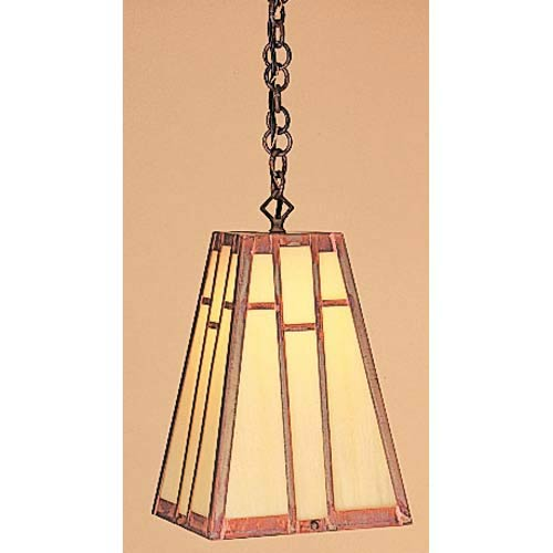 Arroyo Craftsman Asheville Small Tan Dome Pendant