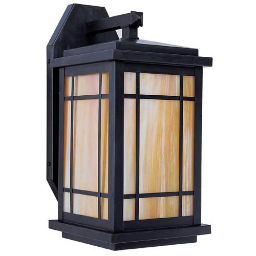 Arroyo Craftsman Avenue Gold White Iridescent Long Outdoor Sconce