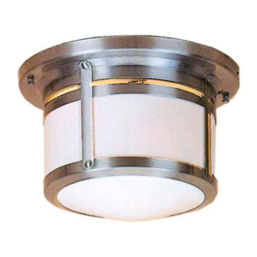 Berkeley Medium White Opalescent Flush Mount