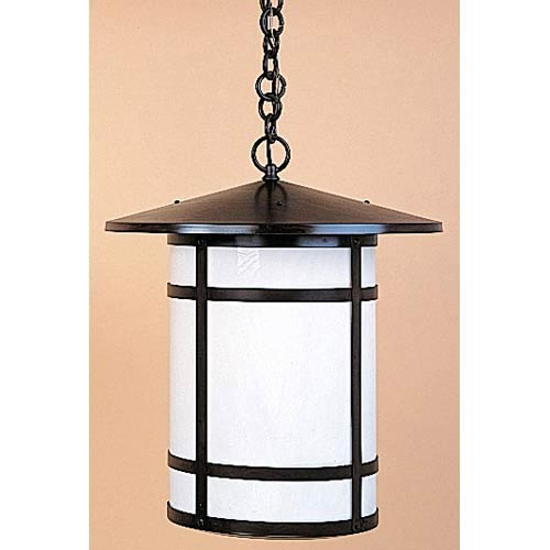 Berkeley Large White Opalescent Long Outdoor Pendant