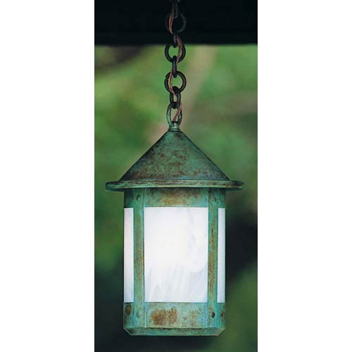 Arroyo Craftsman Berkeley Extra Small White Opalescent Outdoor Pendant