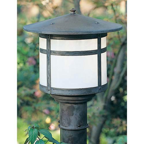Berkeley Large White Opalescent Outdoor Post Mount