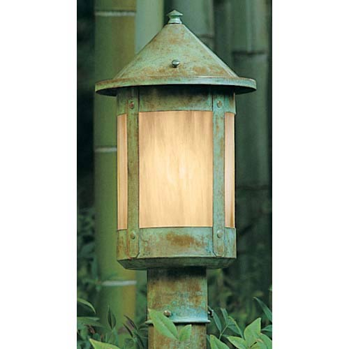 Berkeley Large Gold White Iridescent Outdoor Post Mount